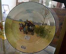 Royal Doulton coaching days blue sky 21 cm plate
