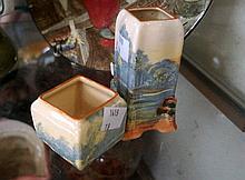 2 Royal Doulton miniature bud vases, Woodley Dale
