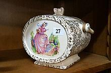 English Lavender lady biscuit barrel