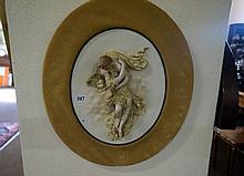 19th Century German bisque figured wall plaque