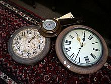 2 antique Ansonia wall clock to restore & barometer