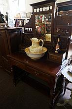 Edwardian Kauri pine dressing table