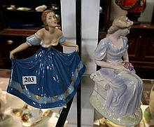 Wedgwood tranquility & Royal Dux figures