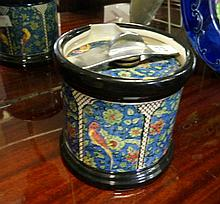 Royal Doulton blue Persian tobacco jar