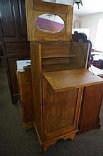 Oak shaving cabinet