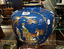 New Chelsea good quality vase with enamelled chinese figures