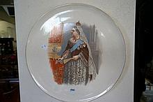 Large Victorian wall charger of Queen Victoria