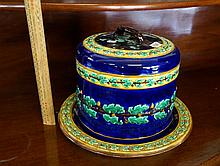 Victorian Wedgwood majolica cheese dome & cover
