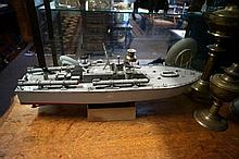 Hand made wooden motor torpedo boat
