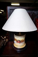 Royal Doulton coaching days table lamp