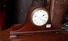 Edwardian mahogany  mantle clock