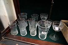 11 Pall Mall & Victorian glasses