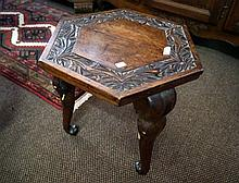 Antique carved elephant design table