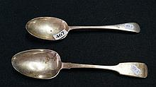 2 Victorian Sterling Silver serrving spoons