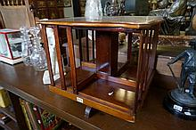 Edwardian mahogany  desk top revolving bookcase