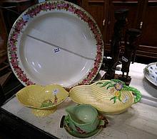 Royal Doulton roses large platter & 4pcs Carltonware