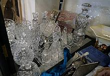 Assorted crystal & glass