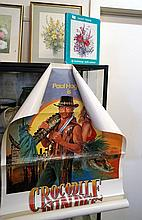 Daisy Wood print & book signed by Daisy Wood & Crocodile Dundee movie poste