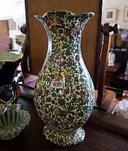 Royal Doulton green persian large vase