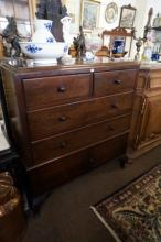 1920's Mahogany 4 drawer, 2 door Gents cabinet by Warring & Gillows