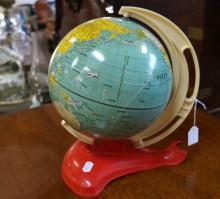 1950's metal childs globe