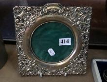 S/silver embosed photo frame