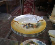 3 Royal Doulton bowls, coaching days