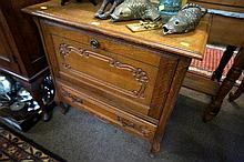 French oak cupboard with drawer