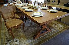 French oak plank top 2.2m x .87 cross ended dining table