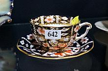R/Crown Derby Imari large cup & saucer
