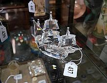 Boxed Swaroviski sail boat