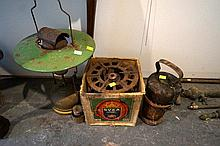 Svea cooker in original box, cast iron stove with kettel & parafin lamp