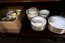 Childs teaset, spode & Maxwell dinner sets, Wedgwood 3pc teaset