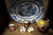 6pcs R/Doulton inc tea pot & character jugs etc