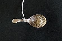 S/silver caddy spoon London 1802 by E. Morley