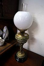 Vic embossed brass banquet kero lamp