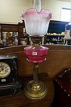 Vic ruby glass banquet kero lamp