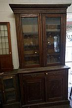 Edw walnut 2 sectional bookcase to restore