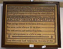 Vic Sampler by Fanny Lock, Stowmarket Nov 21 1850