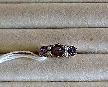 Vic seed pearl & amethyst ring