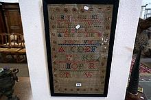 Early C19th alphabet sampler