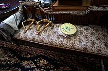 Edwardian maquetry inlaid couch