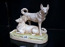 Amphora dogs figure