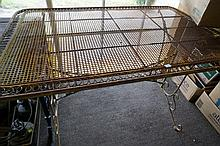 Wrought iron decorative outdoor table