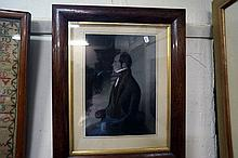 Early C19th rosewood framed watercolour of Gent