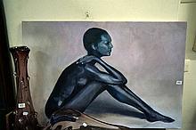 Oil painting of Nude by H. Vines