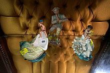 2 Minton figures - Cherrubs on seashells & Wedgwood figure of Shepherd
