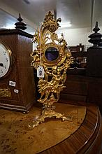 C19th French gilt brass pocket watch stand