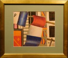 A.W.: Russian Cubist Color Drawing