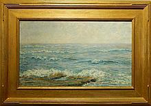 Josephine Ames Morton: The Breakers, Oil Seascape